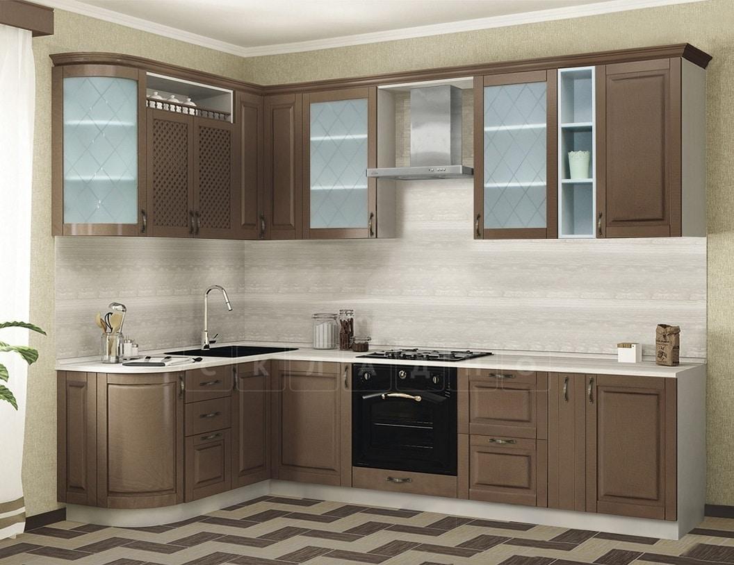 Кухня угловая Массив-Люкс 1735х2200 фото 1 | интернет-магазин Складно