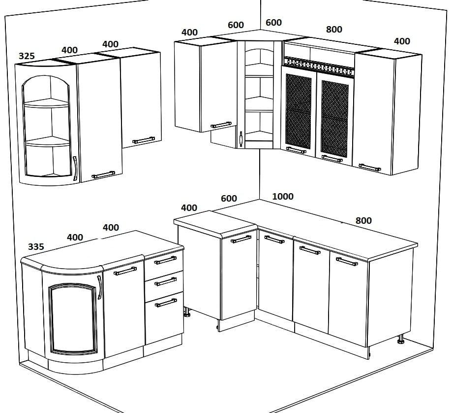 Кухня угловая Массив-Люкс 1800х2135 фото 6 | интернет-магазин Складно