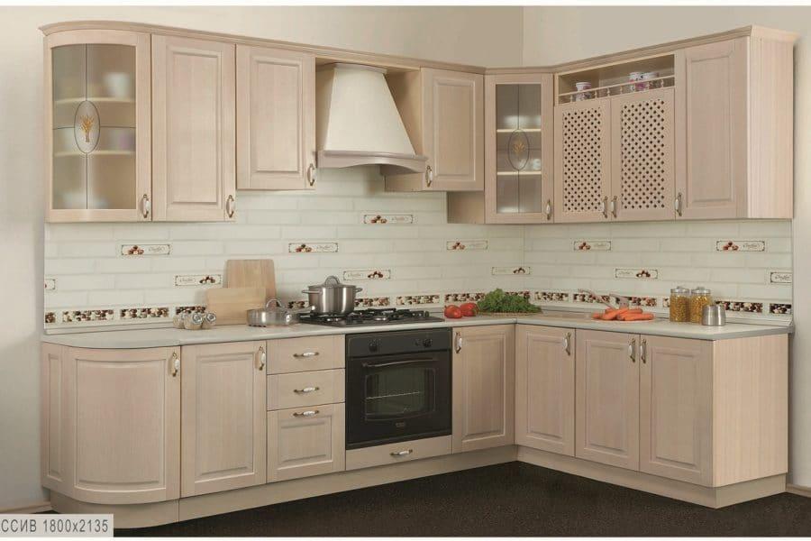 Кухня угловая Массив-Люкс 1800х2135 фото | интернет-магазин Складно