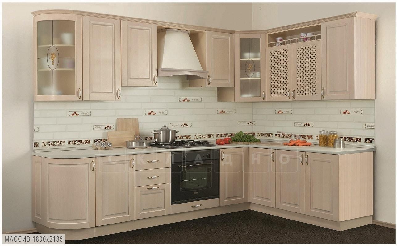 Кухня угловая Массив-Люкс 1800х2135 фото 1 | интернет-магазин Складно