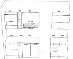 Кухонный гарнитур Массив-Люкс 2400 блюм 51950 рублей, фото 5 | интернет-магазин Складно