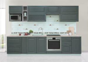 Кухонный гарнитур Массив-Люкс 2400 блюм 51950 рублей, фото 1 | интернет-магазин Складно