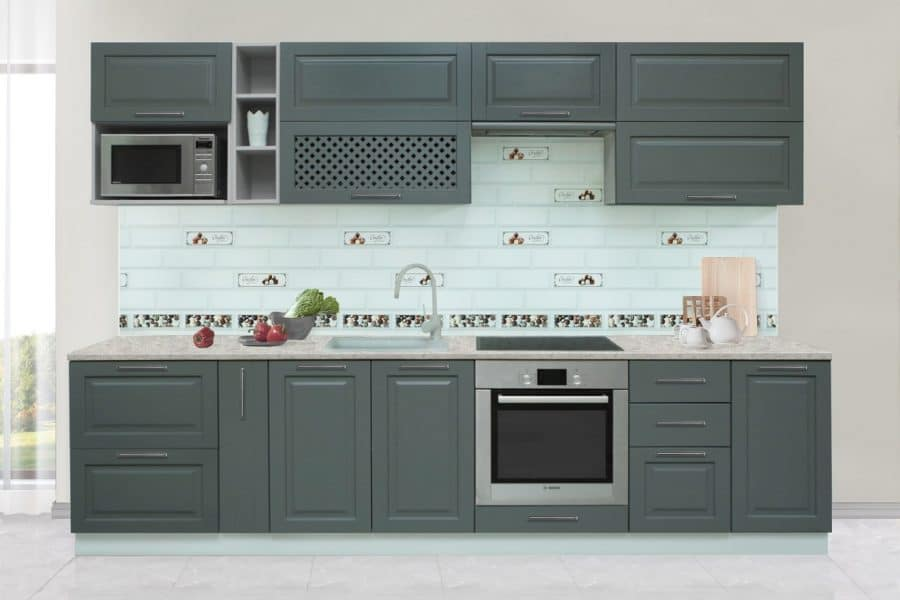 Кухонный гарнитур Массив-Люкс 2400 блюм фото | интернет-магазин Складно