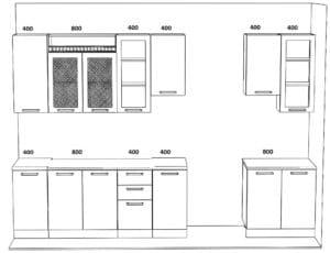 Кухонный гарнитур Массив-Люкс 2800 72350 рублей, фото 6 | интернет-магазин Складно