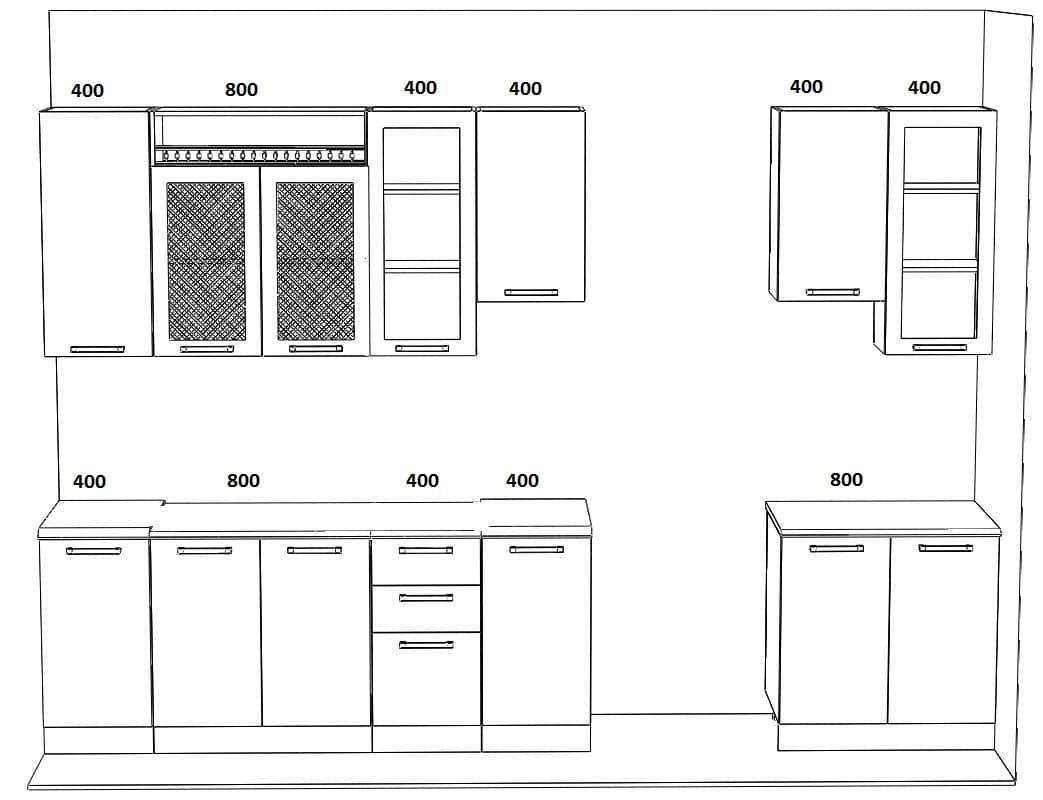 Кухонный гарнитур Массив-Люкс 2800 фото 6 | интернет-магазин Складно