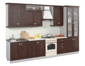 Кухонный гарнитур Массив-Люкс 3000 с буфетом фото | интернет-магазин Складно
