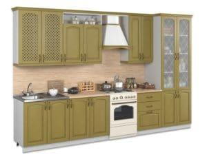Кухонный гарнитур Массив-Люкс 3000 с буфетом фото 2 | интернет-магазин Складно
