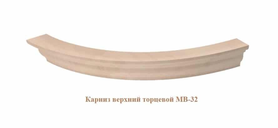 Кухонный навесной шкаф-витрина торцевой Массив МВ-29в правый фото 4 | интернет-магазин Складно