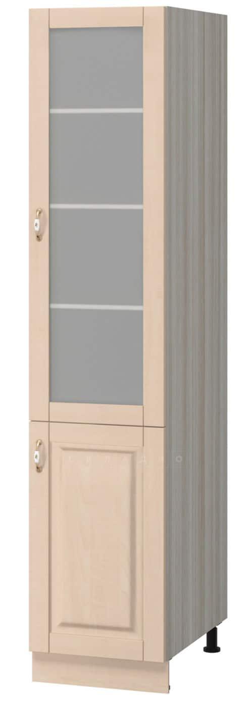 Кухонный напольный пенал со стеклом Массив 40см МН-47 фото 1 | интернет-магазин Складно