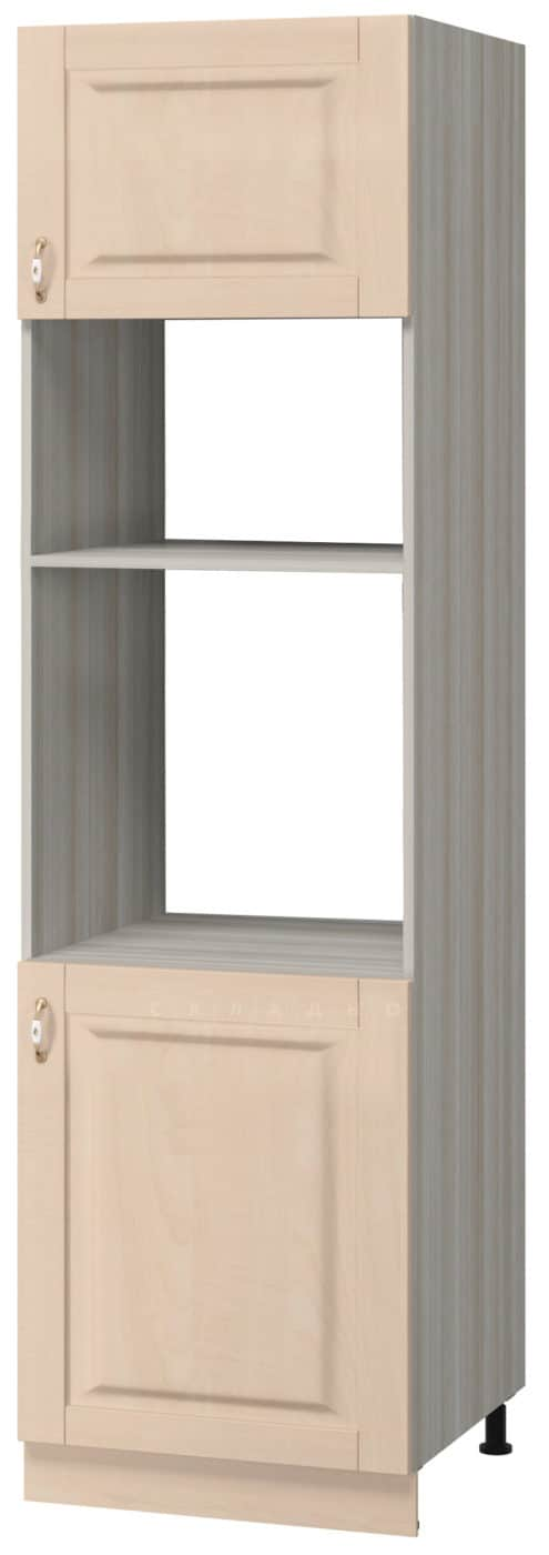 Кухонный напольный пенал под духовой шкаф и микроволновую печь Массив 60см МН-62 фото 1 | интернет-магазин Складно