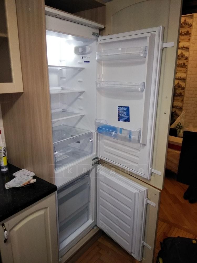 Кухонный напольный пенал под встраиваемый холодильник Массив 60см МН-68 фото 2 | интернет-магазин Складно