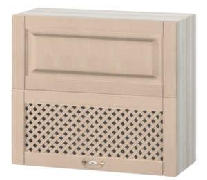 Кухонный навесной шкаф горизонтальный с решеткой Массив 80см МВ-15 фото | интернет-магазин Складно