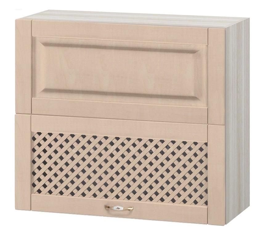 Кухонный навесной шкаф горизонтальный с решеткой Массив 80см МВ-15 фото 1 | интернет-магазин Складно