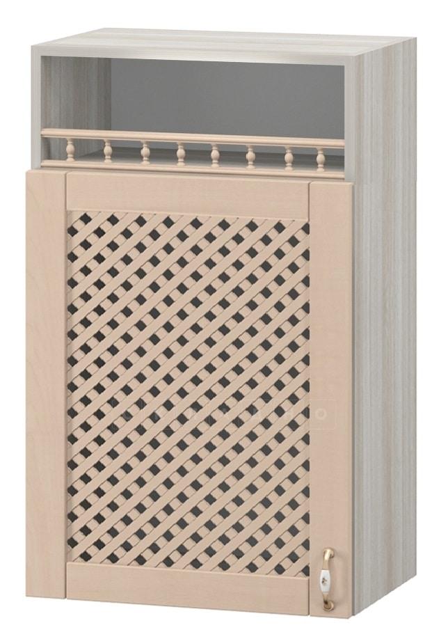 Кухонный навесной шкаф с решеткой и нишей Массив 50см МВ-2 фото 1 | интернет-магазин Складно