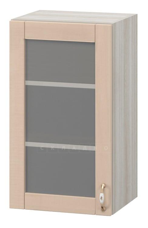 Кухонный навесной шкаф со стеклом Массив 40см МВ-26в фото 1 | интернет-магазин Складно