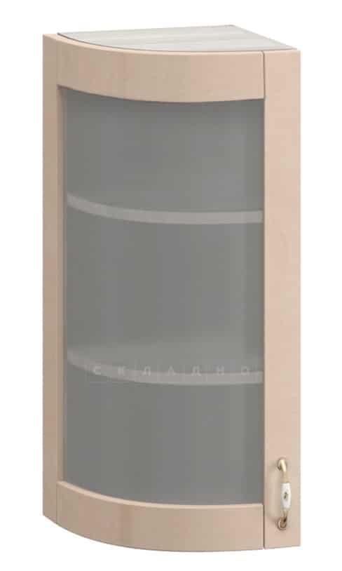 Кухонный навесной шкаф-витрина торцевой Массив МВ-29в левый фото 1 | интернет-магазин Складно