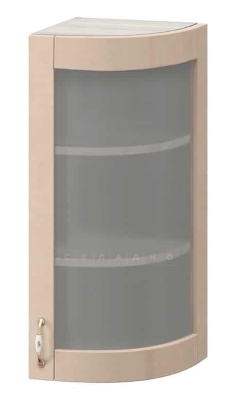Кухонный навесной шкаф-витрина торцевой Массив МВ-29в правый фото 1 | интернет-магазин Складно