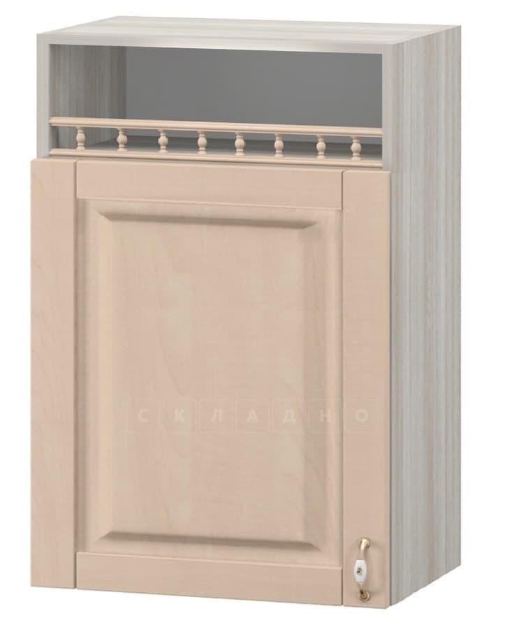 Кухонный навесной шкаф Массив 60см МВ-3 с одной дверцей и нишей фото 1 | интернет-магазин Складно
