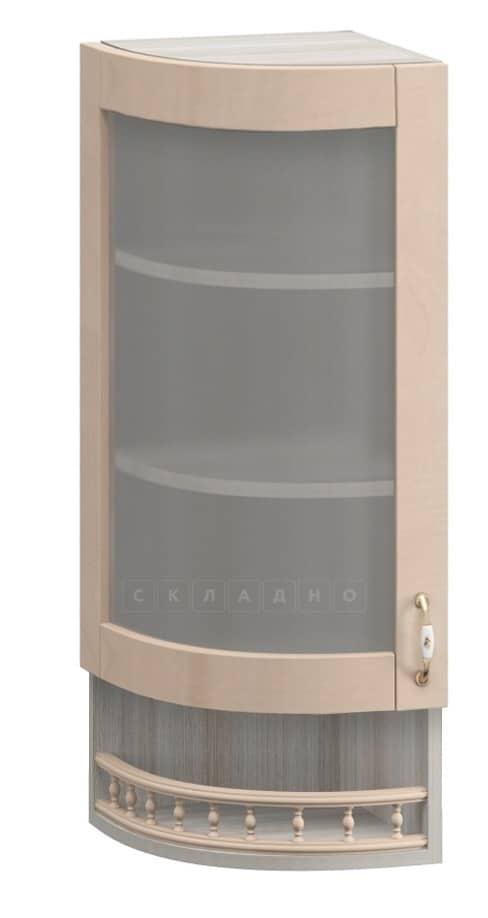 Кухонный навесной шкаф-витрина торцевой Массив МВ-30в левый фото 1 | интернет-магазин Складно