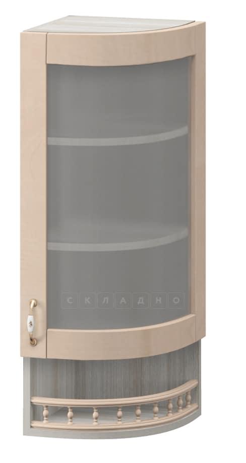 Кухонный навесной шкаф-витрина торцевой Массив МВ-30в правый фото 1 | интернет-магазин Складно
