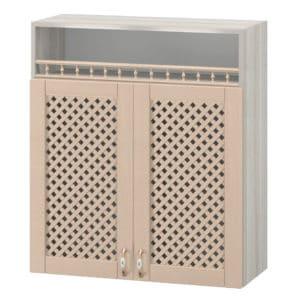 Кухонный навесной шкаф с решеткой и нишей Массив 80см МВ-5 14650 рублей, фото 1 | интернет-магазин Складно