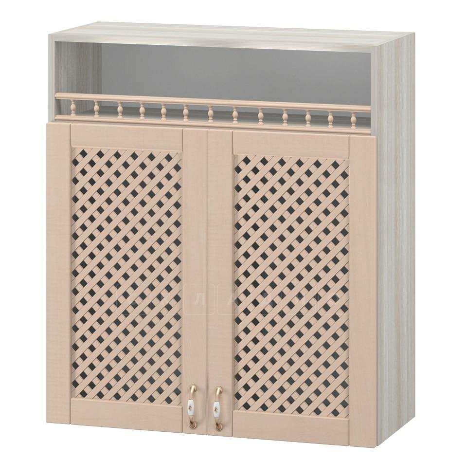 Кухонный навесной шкаф с решеткой и нишей Массив 80см МВ-5 фото 1 | интернет-магазин Складно