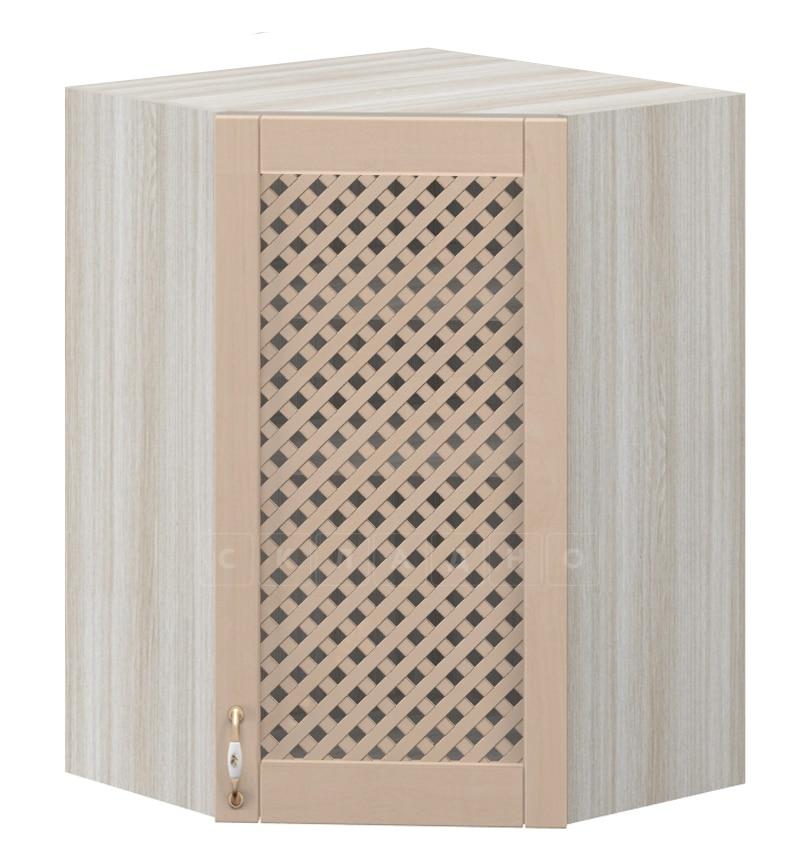 Кухонный навесной шкаф угловой с решеткой Массив МВ-59 фото 1 | интернет-магазин Складно