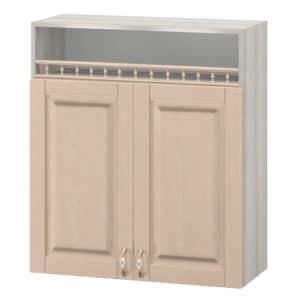 Кухонный навесной шкаф Массив 80см МВ-6 с двумя дверцами и нишей фото | интернет-магазин Складно
