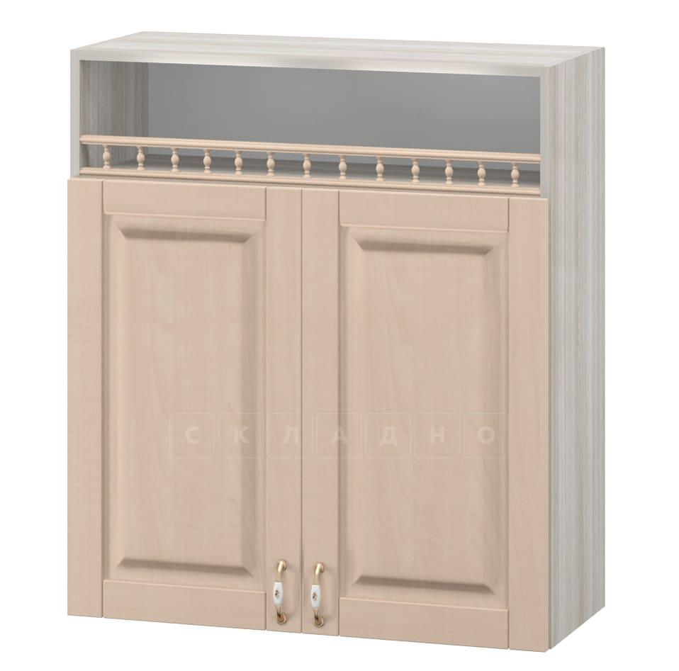 Кухонный навесной шкаф Массив 80см МВ-6 с двумя дверцами и нишей фото 1 | интернет-магазин Складно