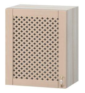 Кухонный навесной шкаф с решеткой Массив 60см МВ-67 10440 рублей, фото 1 | интернет-магазин Складно