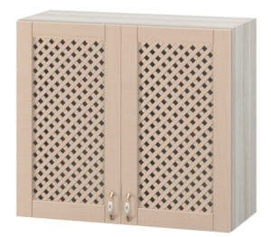 Кухонный навесной шкаф с решеткой Массив 80см МВ-7  15850  рублей, фото 1 | интернет-магазин Складно
