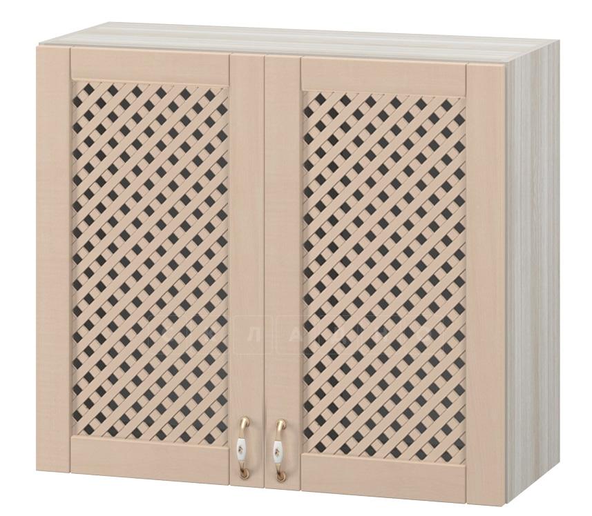 Кухонный навесной шкаф с решеткой Массив 80см МВ-7 фото 1 | интернет-магазин Складно