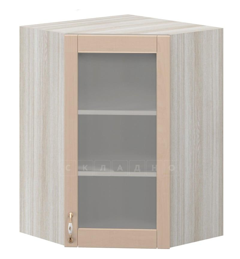 Кухонный навесной шкаф угловой со стеклом Массив МВ-8в фото 1 | интернет-магазин Складно