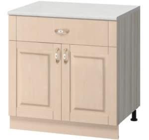 Кухонный шкаф напольный Массив 80см МН-15 с одним ящиком фото   интернет-магазин Складно
