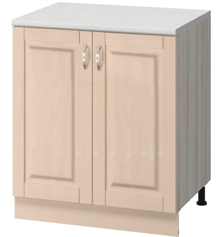 Кухонный шкаф напольный Массив 60см МН-19 с двумя дверцами фото 1 | интернет-магазин Складно