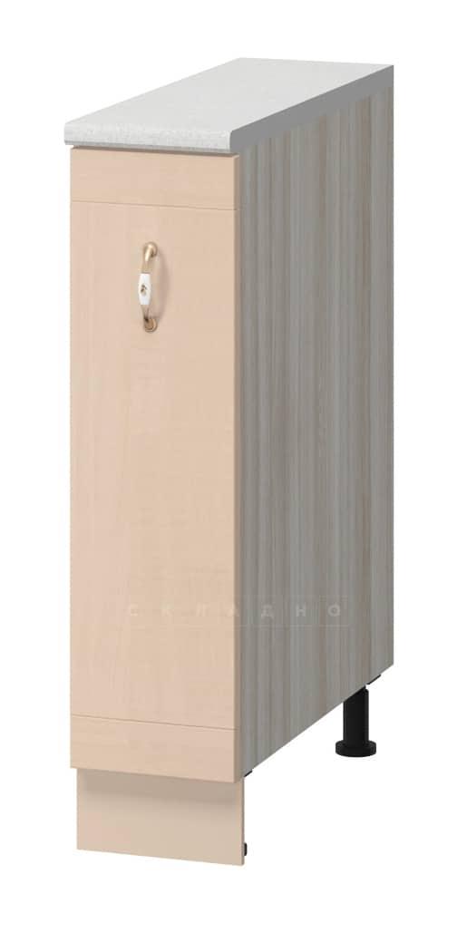 Кухонный шкаф напольный бутылочница Массив 15см МН-36 фото 1 | интернет-магазин Складно