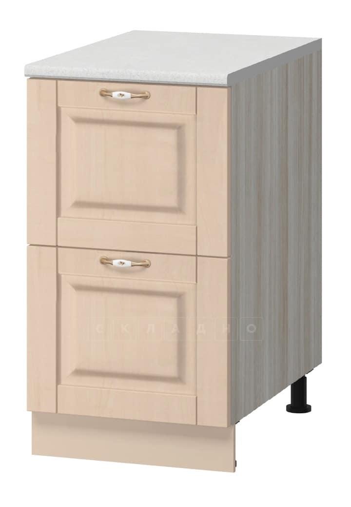 Кухонный шкаф напольный Массив 40см МН-38 с двумя ящиками фото 1   интернет-магазин Складно