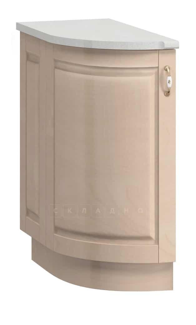 Кухонный шкаф напольный торцевой гнутый Массив МН-43 левый фото 1   интернет-магазин Складно