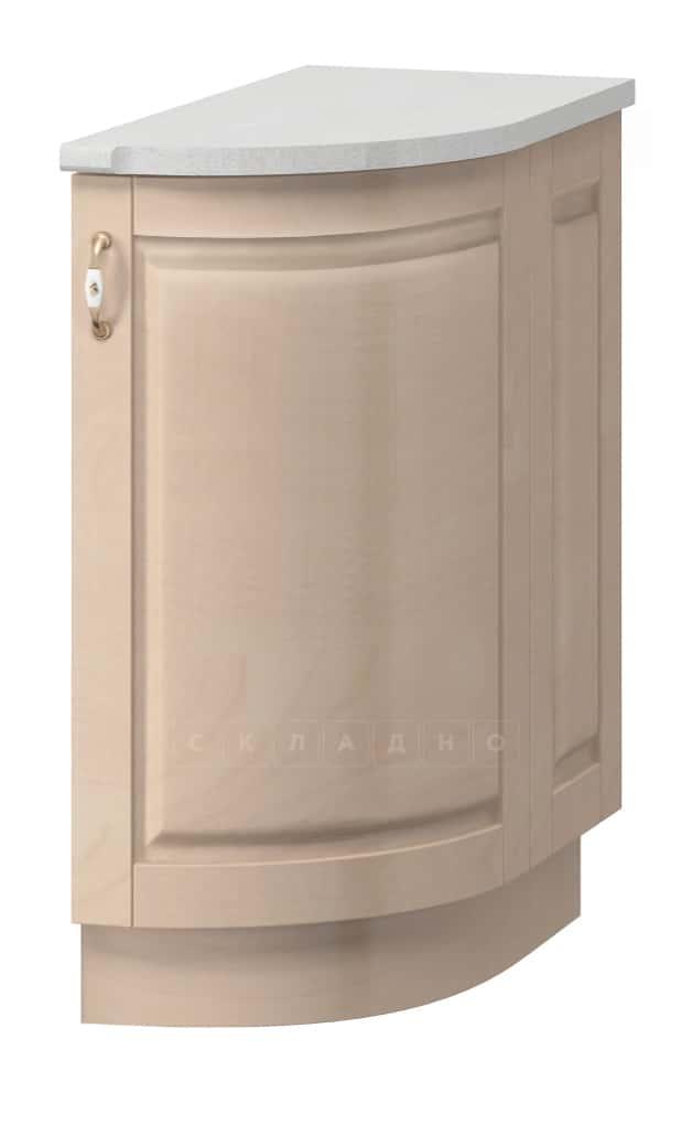 Кухонный шкаф напольный торцевой гнутый Массив МН-43 правый фото 1   интернет-магазин Складно