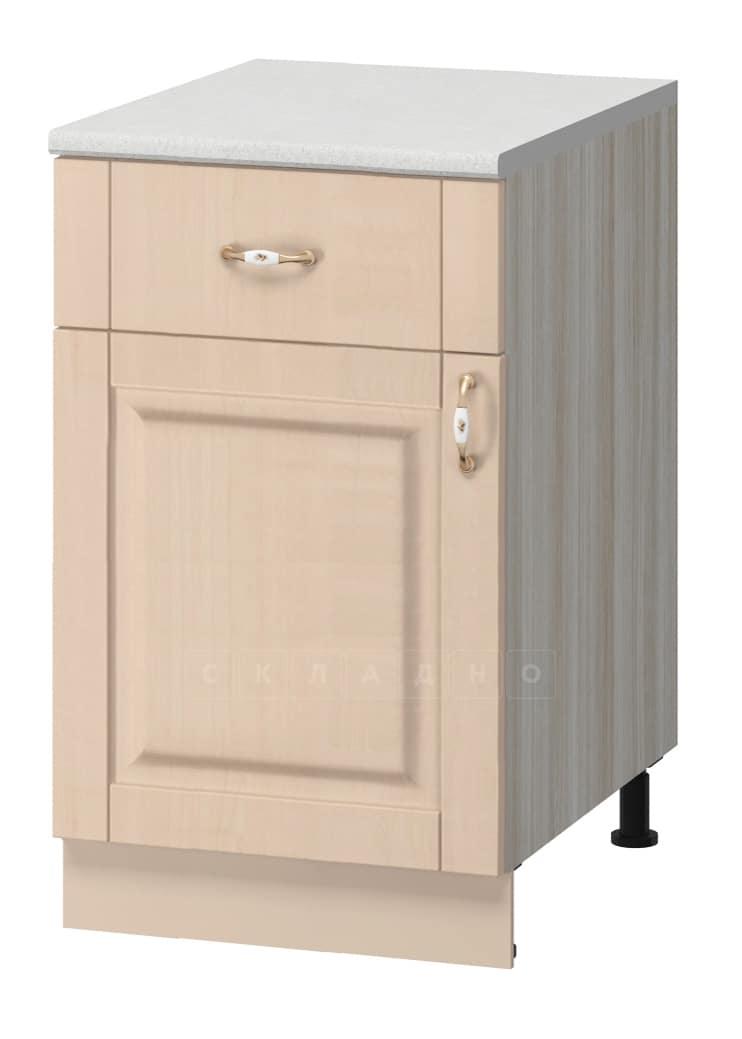 Кухонный шкаф напольный Массив 50см МН-58 с одним ящиком фото 1 | интернет-магазин Складно