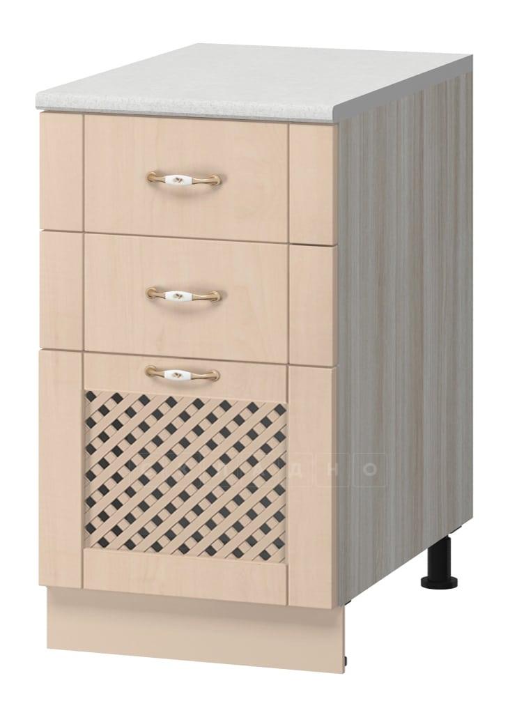 Кухонный шкаф напольный Массив 40см МН-59 с тремя ящиками и решеткой фото 1 | интернет-магазин Складно