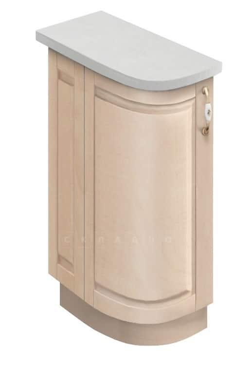 Кухонный шкаф напольный торцевой гнутый модерн Массив МН-75 левый фото 1 | интернет-магазин Складно