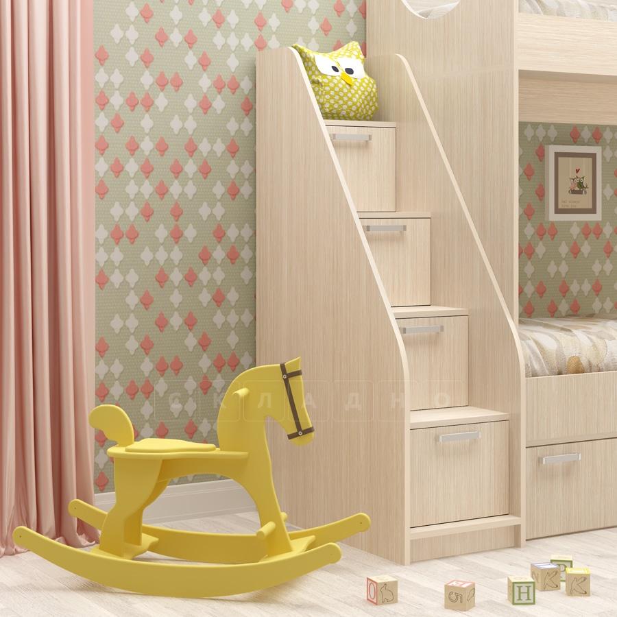 Лестница с ящиками для детской кровати фото 1 | интернет-магазин Складно