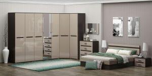 Спальный гарнитур Карина-9 мдф фото | интернет-магазин Складно