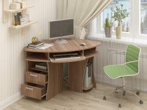 Компьютерный стол угловой СК-12 ясень шимо темный фото | интернет-магазин Складно