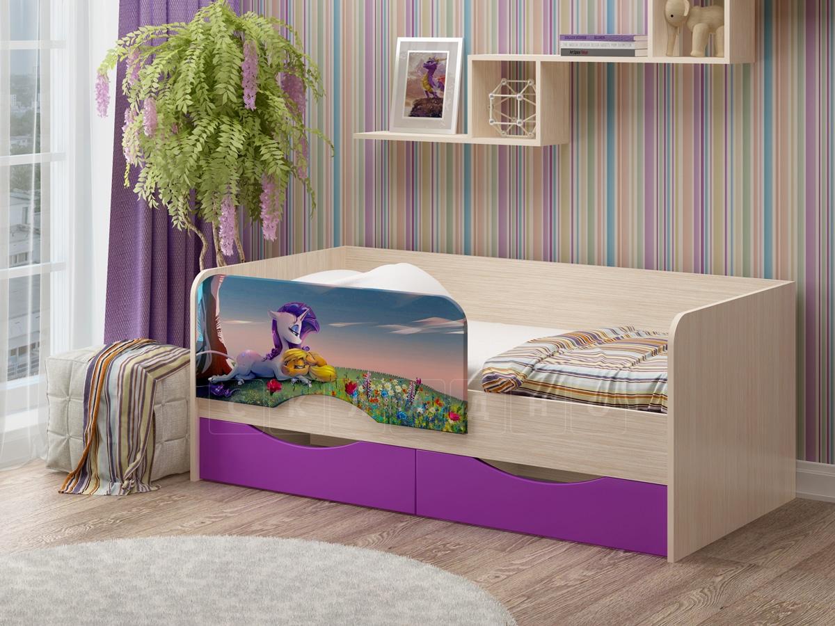 Детская кровать Юниор-12 Единорог фото 1 | интернет-магазин Складно