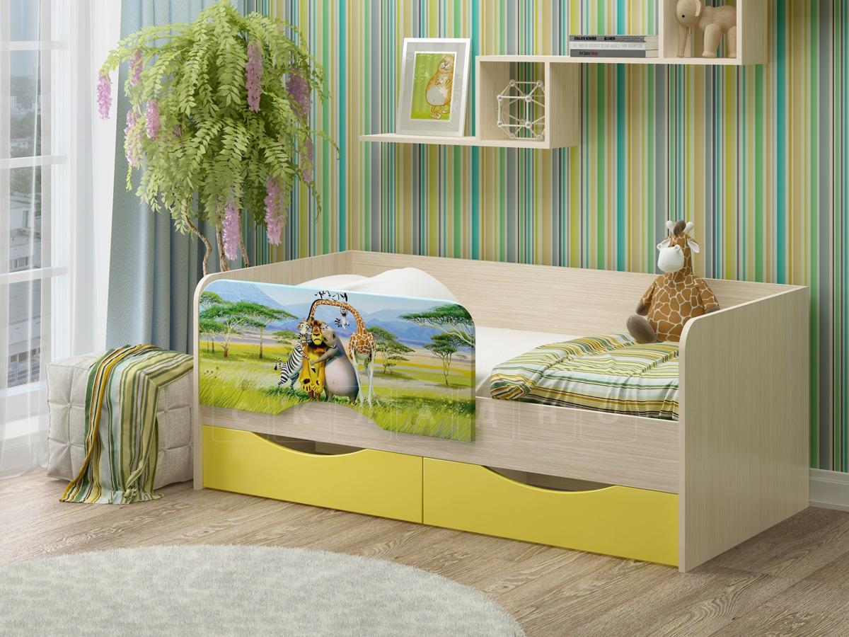 Детская кровать Юниор-12 Мадагаскар фото 1 | интернет-магазин Складно