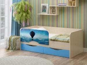 Детская кровать Юниор-12 Шар фото | интернет-магазин Складно