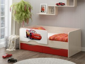 Детская кровать Юниор-12 Тачки фото | интернет-магазин Складно