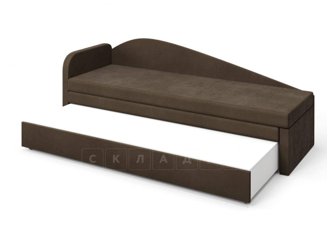 Диван софа Верди коричневый левый фото 4 | интернет-магазин Складно